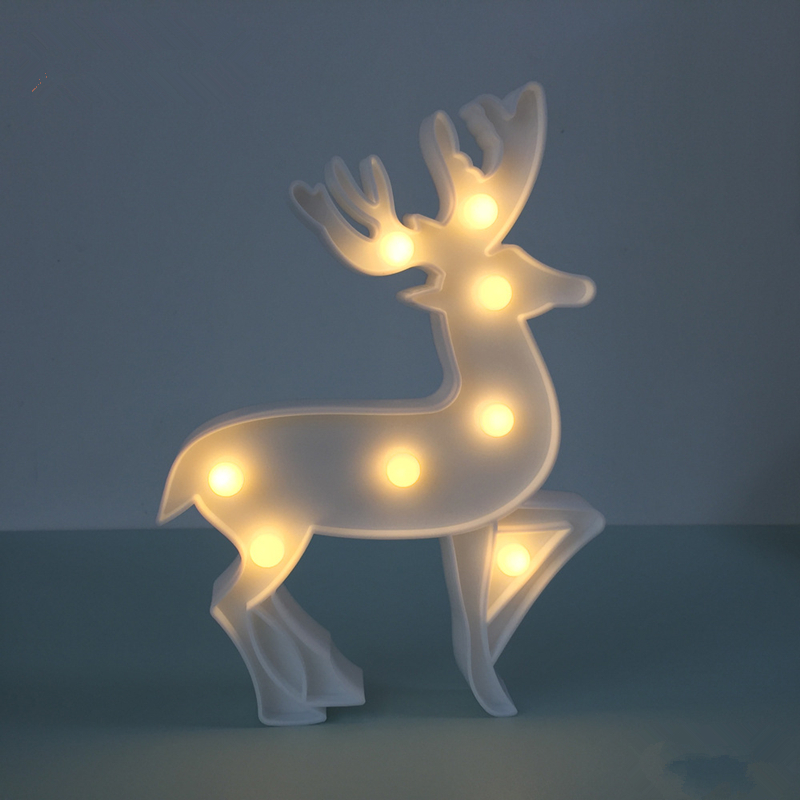 Battery Powered Animal shape Small LED Deer night light Childrens Bedroom Decoration lights