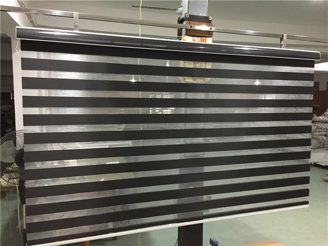 free shipping popular zebra blinds double layer roller blinds for room window customized size