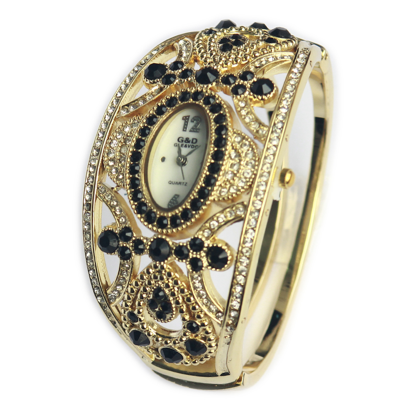 G&D New Luxury Brand Women Watches Quartz Wristwatches Gold Bracelet Wa