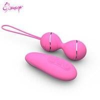 7 speed oplaadbare vibratorei sex dubbele sprong eieren kegel ballen siliconen vibrator clitoris seksspeeltjes vrouwen volwassen product sex