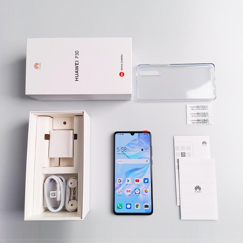 Global ROM HUAWEI P30  Mobile Phone Full Screen Support NFC OTA update Smartphone 3650mAh Octa Core