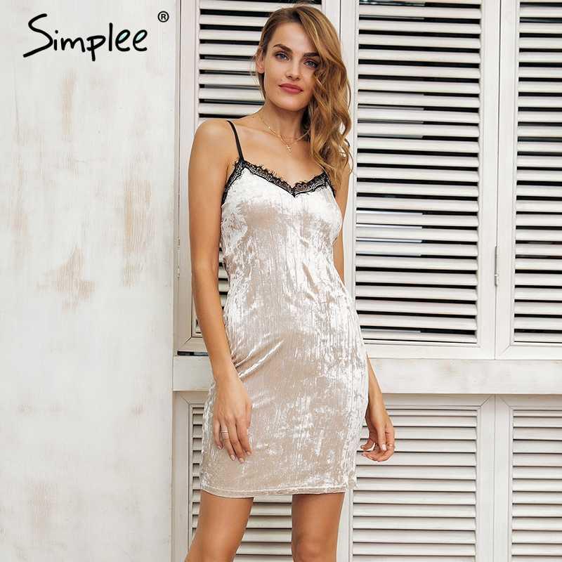 Simplee ремень сексуальные бархатное платье женские с v-образным вырезом Повседневная мини-платье женский Рождество Черное короткое платье Вечерние Весна vestidos