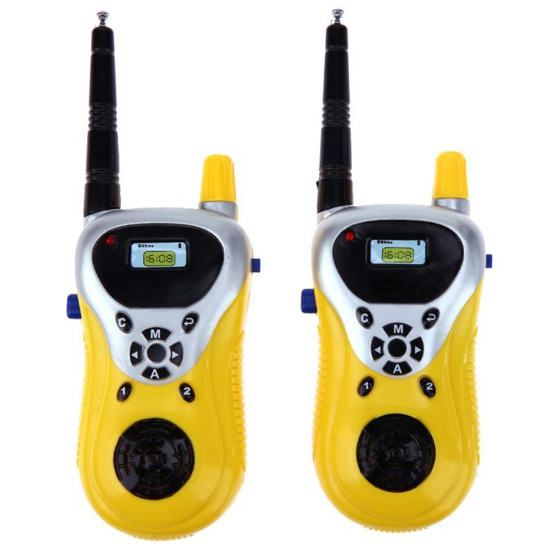 Children 2pcs/Set Intercom Electronic Walkie Talkies Two-Way Radio Mini Cartoon Toy Interphone Electronic Walkie Taikie