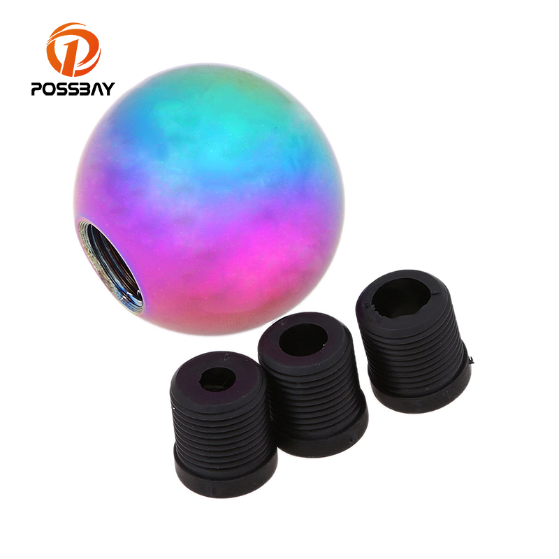POSSBAY Colorful Car Accessories MT Gear Shift Knob Shifter Knob for Toyota Corolla VW Golf BMW 1 3 5 Series Interior Decoration
