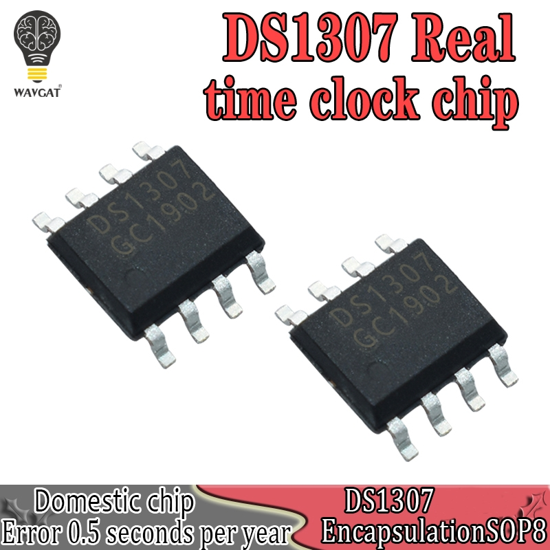 10PCS DS1307 DS1307N DIP-8 RTC SERIAL 512K I2C Real-Time Clock IC