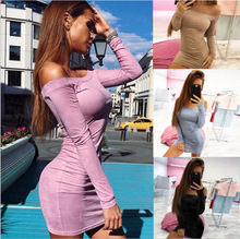 Style women dress womens clothing new sexy slim autumn fall ladies female dresses