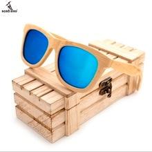 BOBO VOGEL Holz Bambus Sonnenbrille Polarisierte UV400 Schutz Marke Design Männer Sonnenbrille Brillen Wit Bambus Box gafas de sol