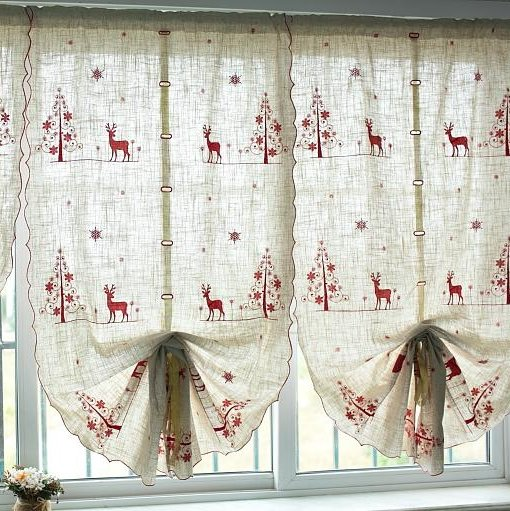 Curtains Ideas curtains decoration pictures : Aliexpress.com : Buy Christmas deer Curtains decoration/ornament ...