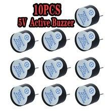Grande voz 5V Ativo Buzzer Magnético Longo Continous Beep Alarm Tone Ringer 12mm Piezo Campainhas Ativos Apto Para computadores e Impressoras