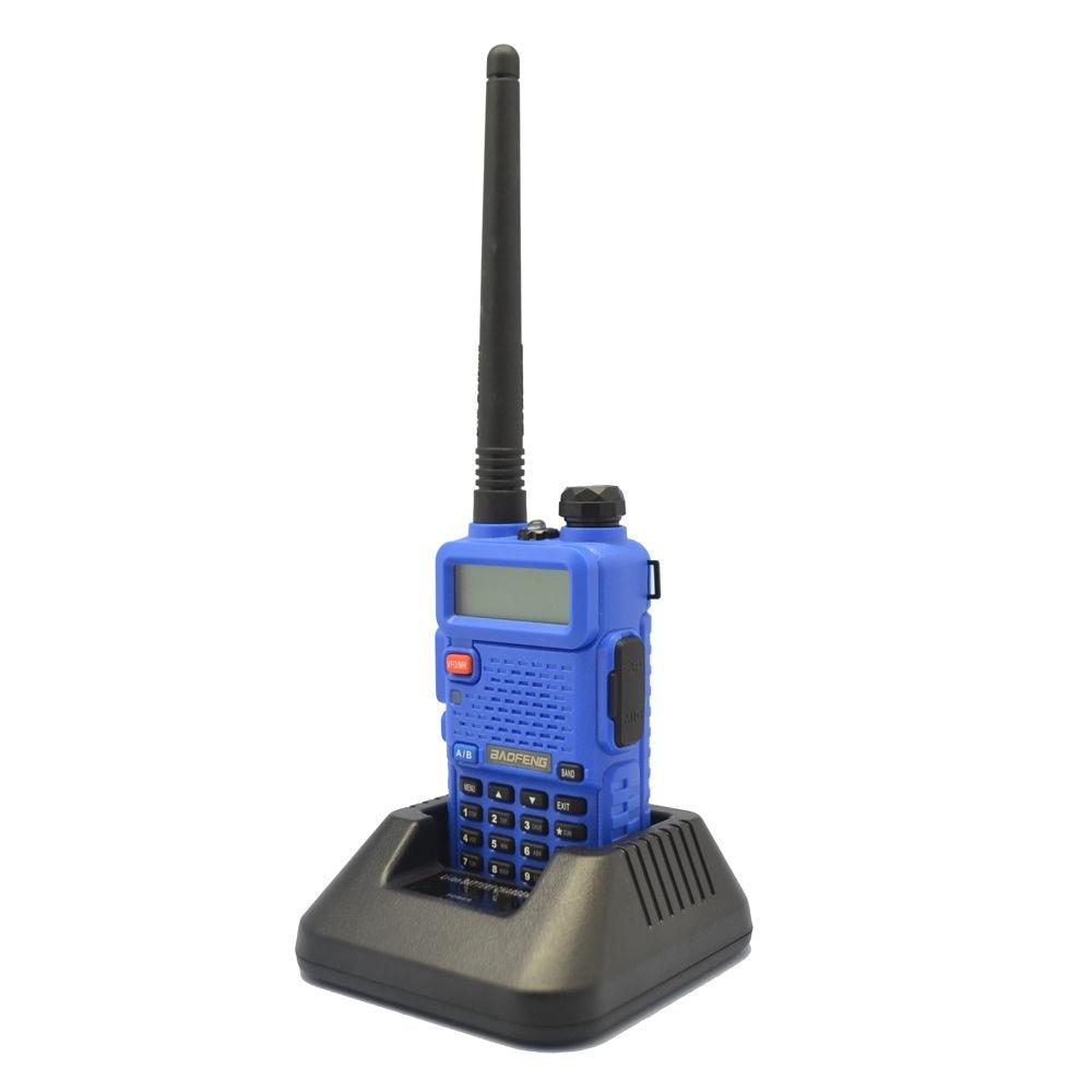 Azul BaoFeng UV-5R 136-174/400-520 MHz de banda Dual CTCSS FM jamón Walkie Talkies Contador de frecuencia portátil de 50MHz-2,4 GHz RK560 DCS CTCSS, medidor de Radio, medidor de frecuencia de RK-560