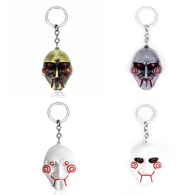 dongsheng 3 Colors Horror Movie Saw Keychain Mask Metal Alloy Key Chain Keyring Souvenirs For Men Gift Car Key -50 все цены