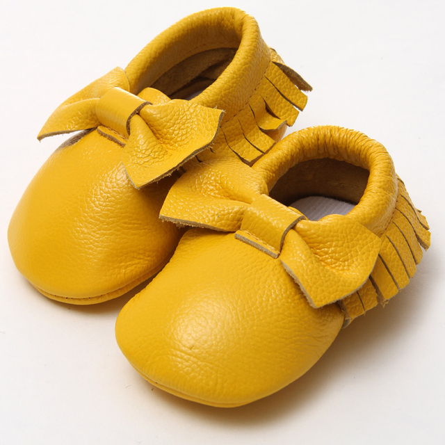 fe156927b7b7 Baby Bow Shoes Baby Shoes First Walkers Brand Leather Baby Moccasins Toddler  Slippers Autumn Baby Winter