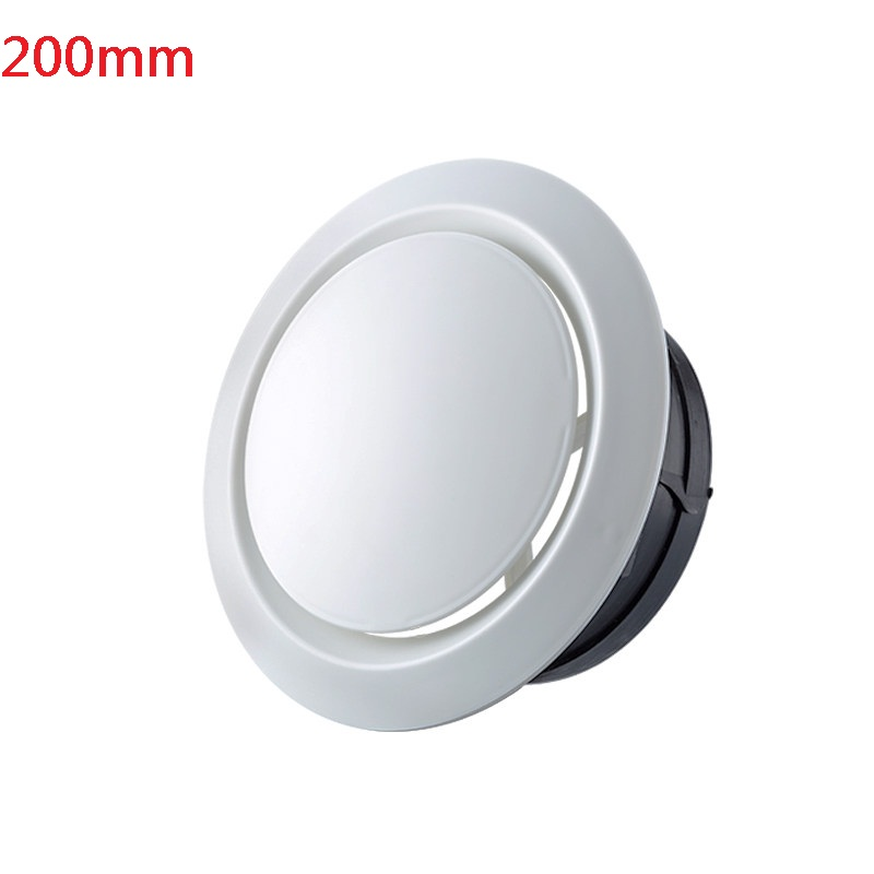 200mm Air Vent Outlet Ventilation Grill Cover Flange Mounting Dia Adjustable Disc Type Round