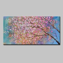 Mintura Oil Paintings for Living Room Wall The Plum Blossom Home Decoration Wall Art Poster Plants Draw Hotel Decor No Framed(China)