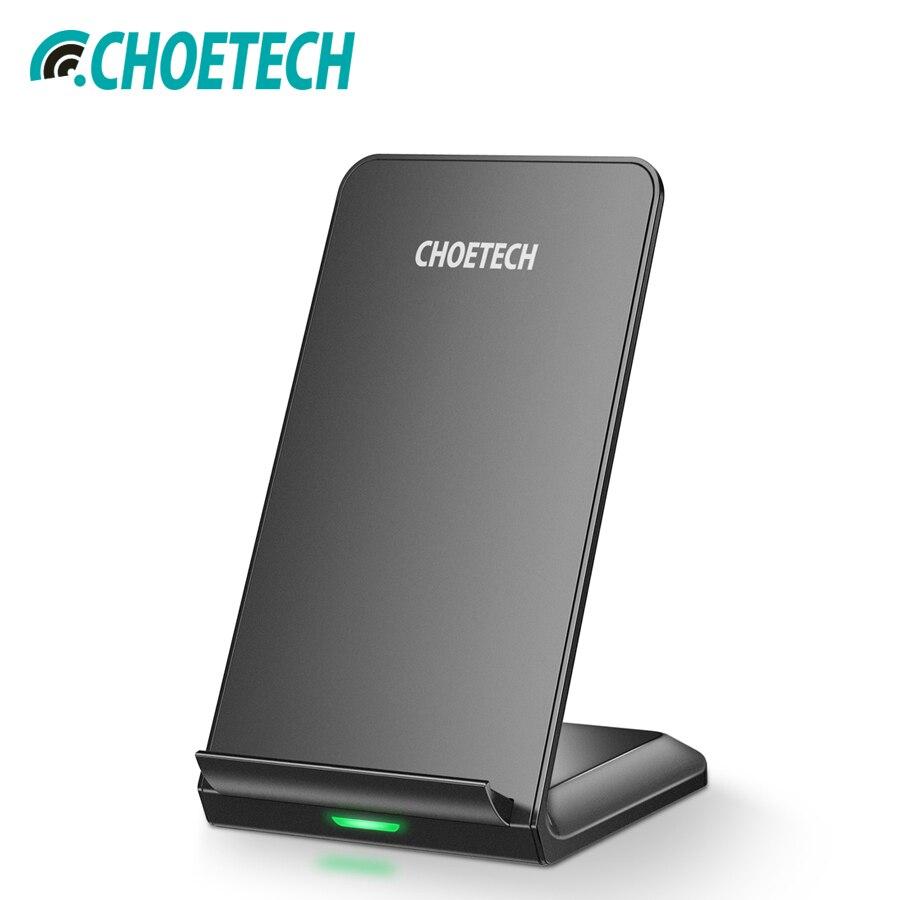 CHOETECH Wireless Charging QI WIRELESS-LADEGERÄT 7,5 watt Für iPhone Xs Max Xr X 8 10 watt Schnelle Drahtlose Ladegerät stehen Für Samsung S9 S8