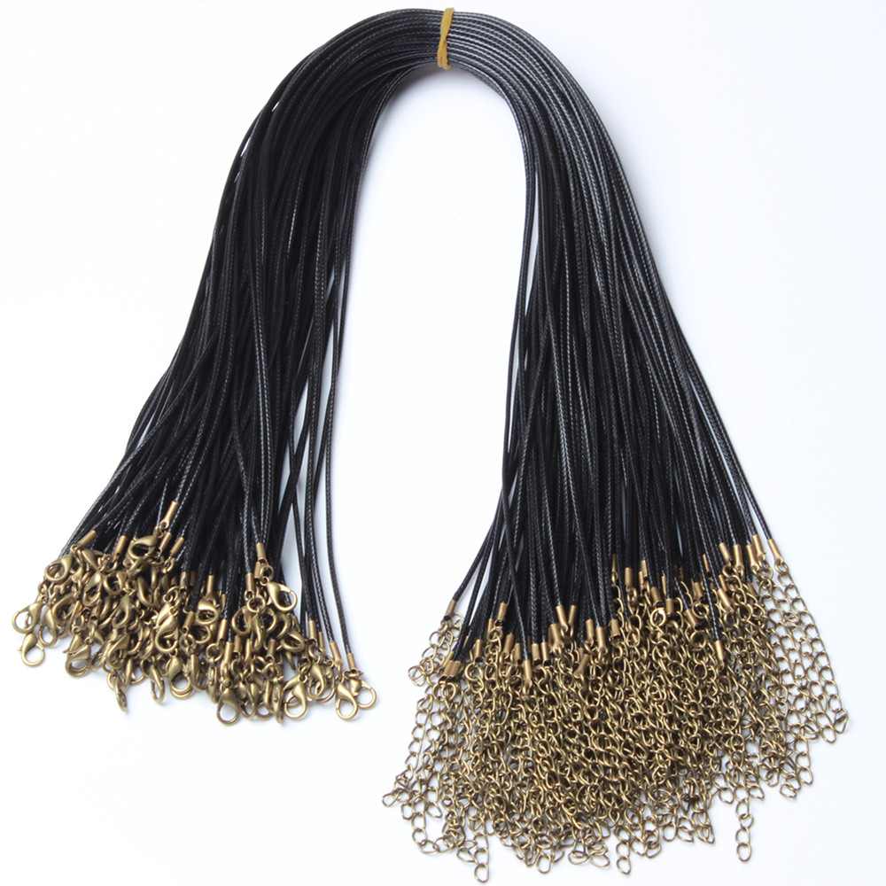 100pcs lot Ancient Bronz Necklace Cord with Clasp Includes 10 Different Colors for Bracelet and DIY Jewelry Making in Jewelry Findings Components from Jewelry Accessories