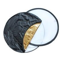 NUEVA 80 cm 5 en 1 Estudio Fotografía Luz Mulit Foto disco Light Reflector Plegable Disco Redondo con Cremallera Que Lleva Todo el bolsa