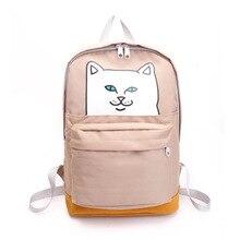 Продажи Американской улица личность кошка печатных сумка женская Корейская версия волна водонепроницаемый студенты мешок