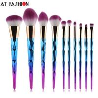 2017 New Arrival Brand Unicorn 10 Pcs Thread Makeup Brushes Professional Colorful Make Up Brush Eyebrow
