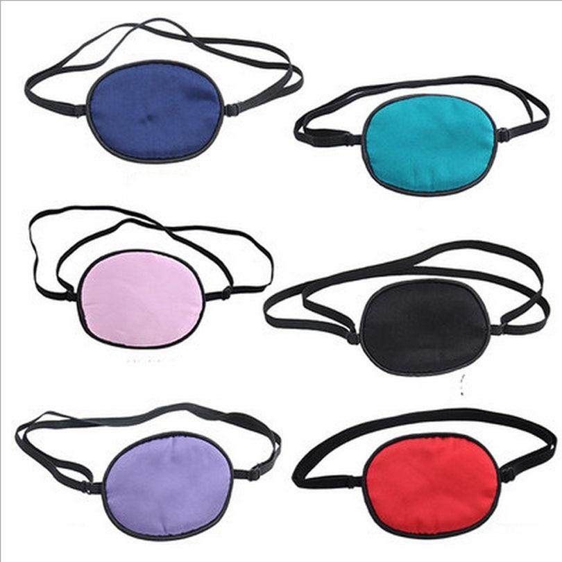 Single-eyed lujo seda sueño Eye Mask tuerto ambliopía entrenador eyeshade suave portable Eye Patch máscara de dormir caso MR088