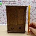 Casa de Muñecas En Miniatura de alta Calidad Chino Clásico Armario Gabinete Mini Muebles Del Dormitorio Kits Hogar Escala 1:12