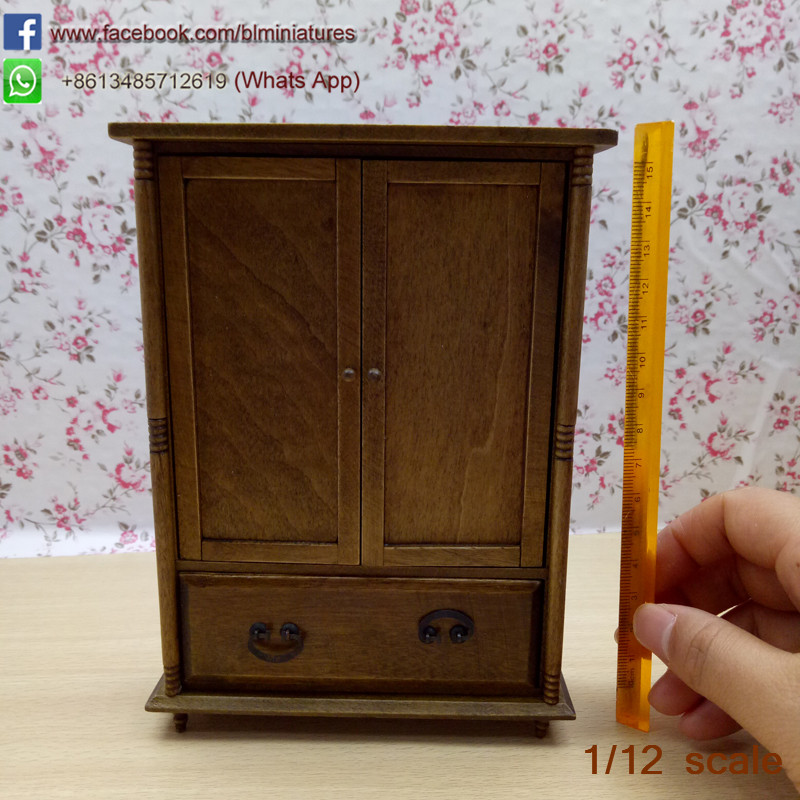 High Quality Doll House Miniature Chinese Classical Wardrobe ...