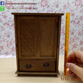 High Quality  Doll House Miniature Chinese Classical Wardrobe Mini Cabinet Bedroom Furniture Kits Home & Living 1:12 Scale