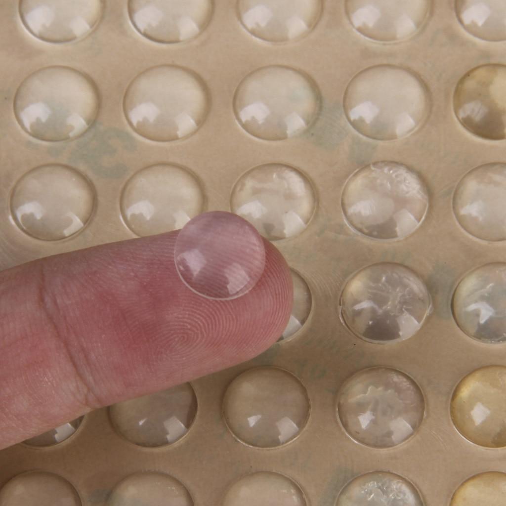 100pcs Adesivo Del Silicone Semicerchio Piedi Clear anti antiscivolo gel di silice paraurti in gomma ammortizzatore ammortizzatore auto-adesivo piedi pastiglie