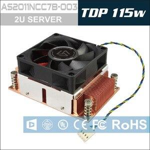Image 2 - ALSEYE enfriador de CPU TDP 115W 2U, Base de cobre puro con cojinete de bolas, ventilador de refrigeración, 12V, 4 pines