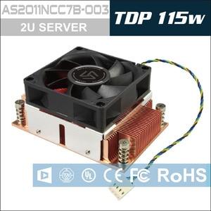 Image 2 - Alseye cpu cooler tdp 115 w 2u servidor base de cobre puro com rolamento de esferas ventilador de refrigeração 12 v 4pin