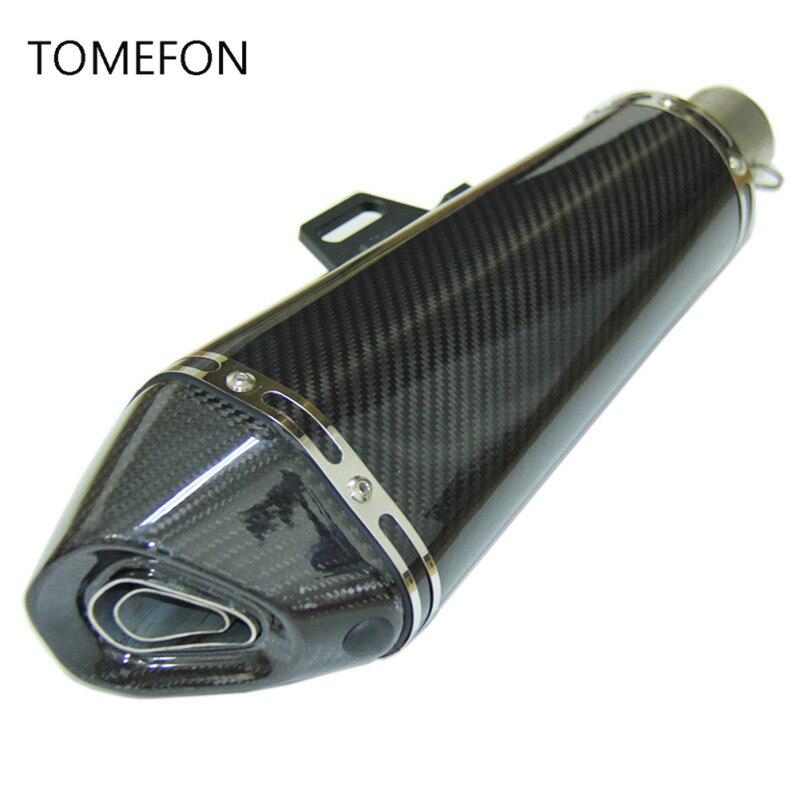 SPEED SCORPION 51mm Street Moto Akrapovic Exhaust Pipe Yoshimura Carbon Fiber Escape Muffler For Z800 Z750 TMAX530 ER6N KTM