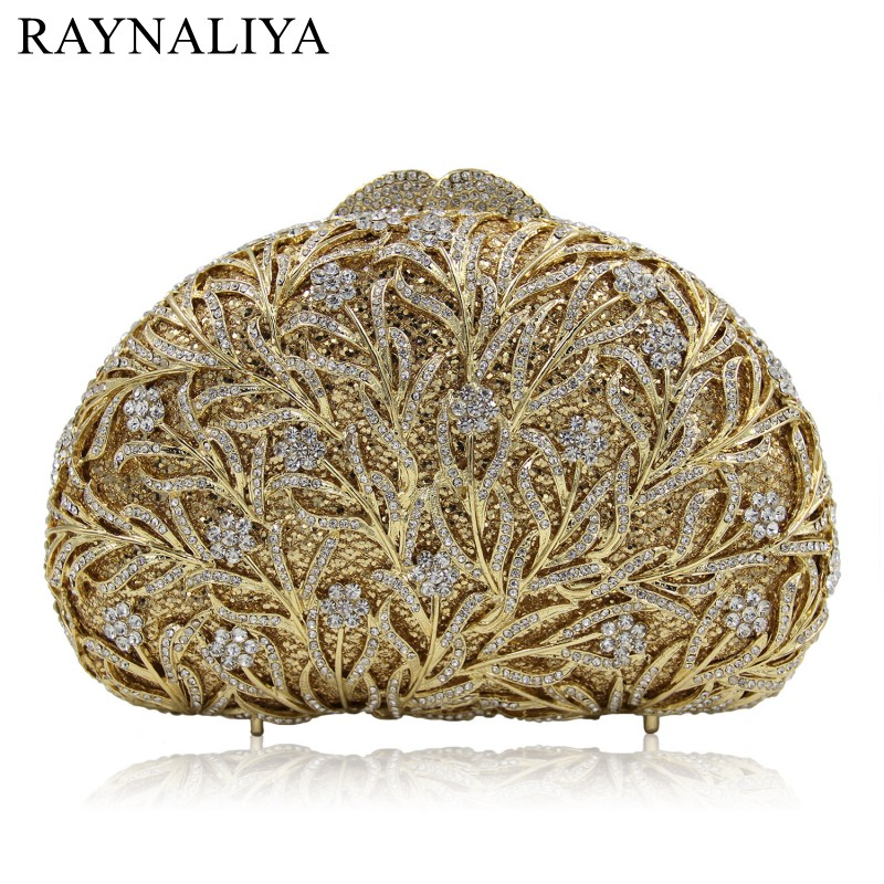 все цены на  Fashion Hollow Out Minaudiere Women Diamond Evening Clutch Bag Rhinstone Party Purse Female Crystal Handbag Smyzh-e0313  онлайн