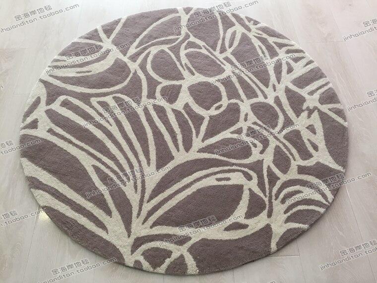 Mode Continental tapis ronds salon tapis canapé tapis chambre à la main acrylique tapis couverture sur mesure