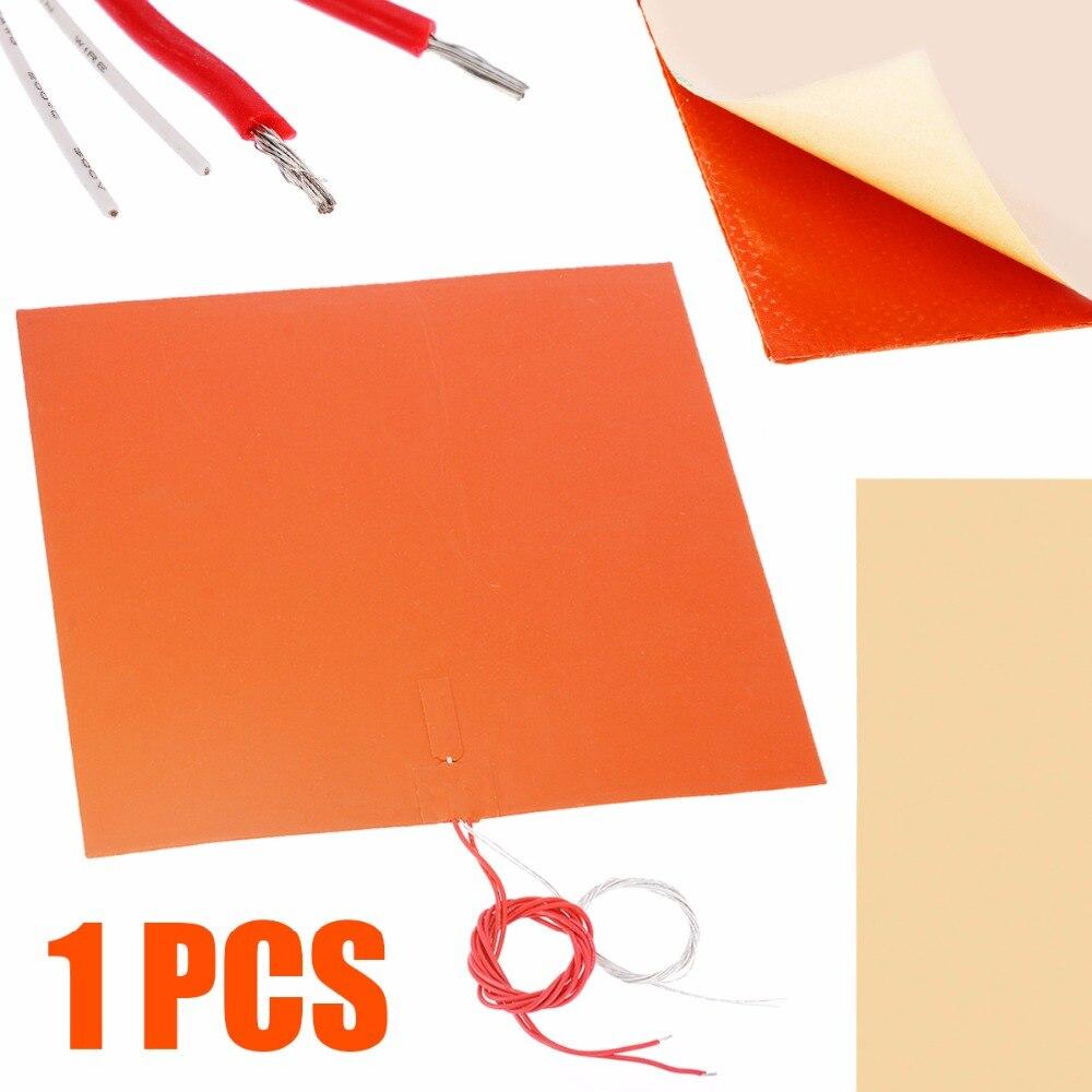 400*400*1.5mm 220 V 1400 W Silicone coussin chauffant imprimante 3D tampons chauffants imperméable lit tapis de conservation de la chaleur