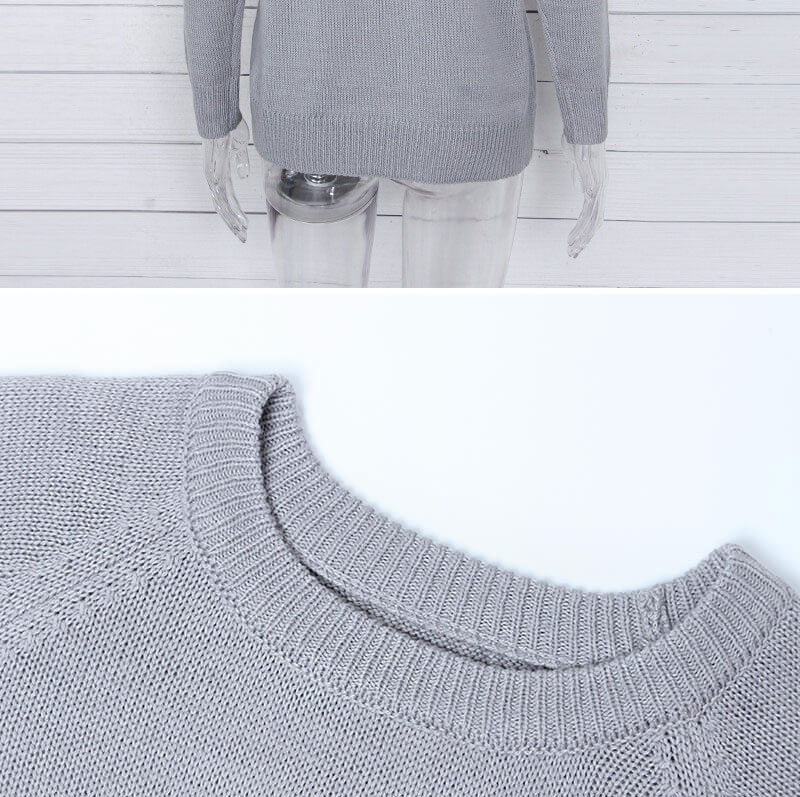 18 new winter white knitted sweater Women lantern sleeve loose gray pullover female Soft warm autumn casual love heart jumper 12