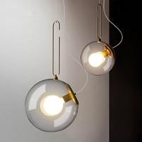 Vintage Industrial Golden Bubble Pendant Lights American Retro Glass Ball Hanglamp Bedroom Kitchen Restaurant Bar Cafe Luminaria