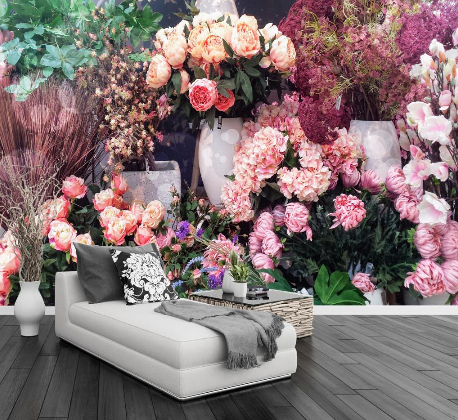 Country style Photo Wallpaper Wall Painting European Non-Woven 3d TV Flower Simple Background Wall 3d Wallpaper Living Room