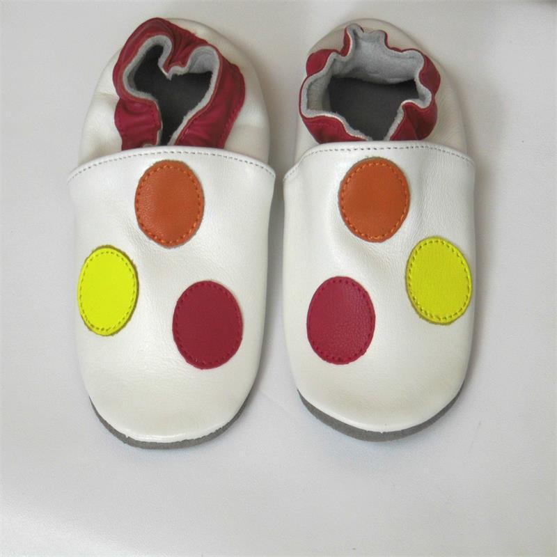 Гарантированная детская обувь из натуральной кожи на мягкой подошве - Цвет: Слоновая кость