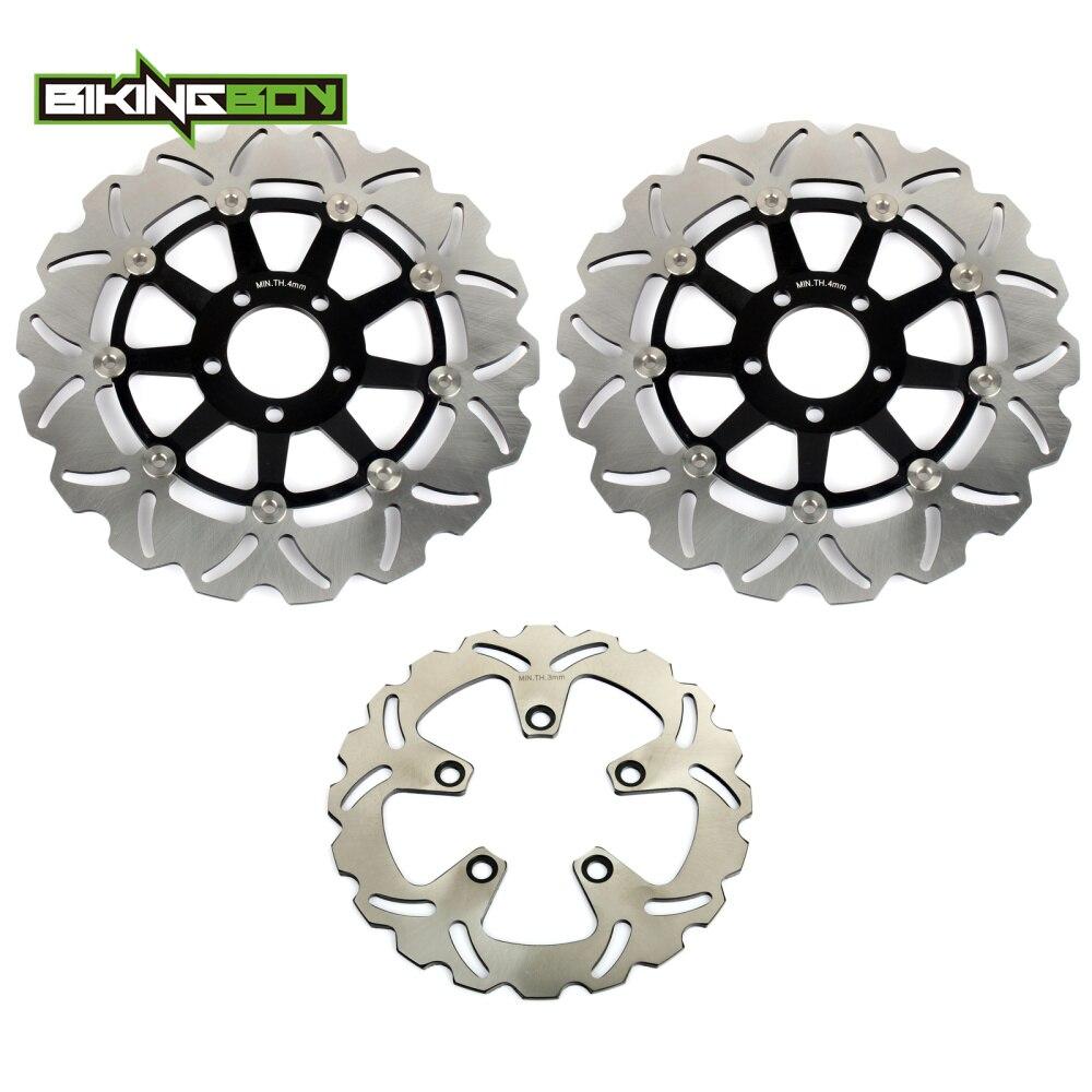 Bikingboy спереди и сзади тормозные диски диски роторы для Kawasaki