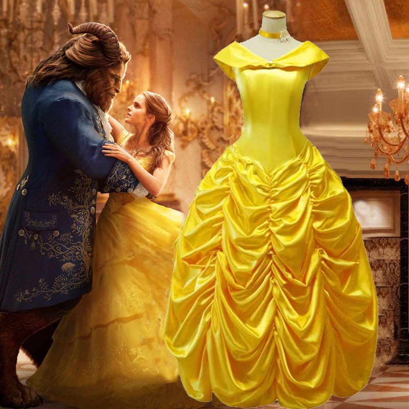 Princess Belle Costume Adult Women Beauty And The Beast Dress Costume For Halloween Cosplay Dress Special Offer Free Shipping Aliexpress