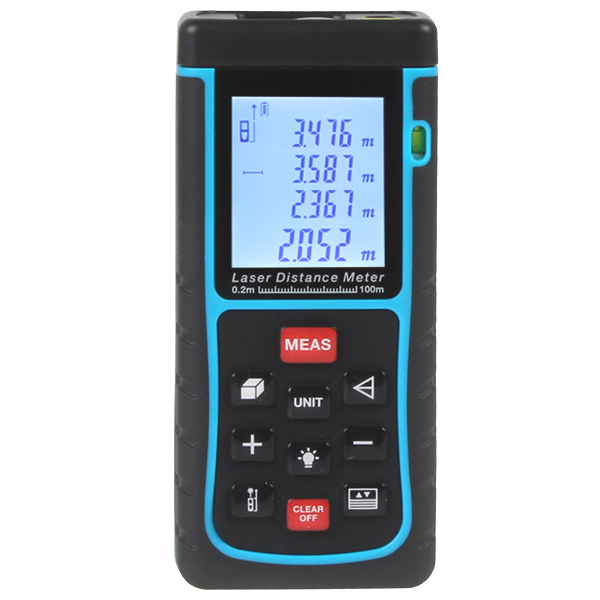 Free Shipping 100M(328ft) E100-5 battery-powered  Laser distance meter measurement accuracy 2mm  laser rangefinders 118*54*28mm big discount brand new sm8124 internal battery resistance impedance meter tester battery resistance voltmeter free shipping