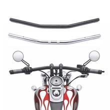 """دراجة نارية المقود 1 """"25 مللي متر أسود كروم السحب مستقيم بار لهوندا كاواساكي ياماها سوزوكي هارلي المروحية بوبر"""