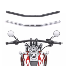 "Manillar de motocicleta de 1 ""y 25mm, barra recta de arrastre cromada negra para Honda, Kawasaki, Yamaha, Suzuki, Harley, Chopper, Bobber"