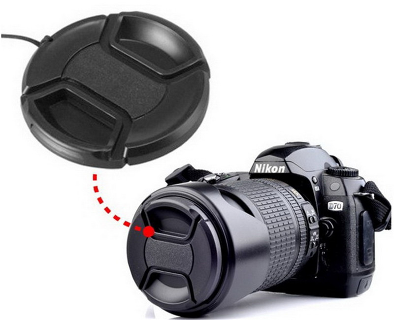 KnightX 37mm - 77mm Center Pinch Snap on Front Cap for canon nikon sony Lens 67mm 52MM 58MM camera lens d5200 d5300 d5100 d3100