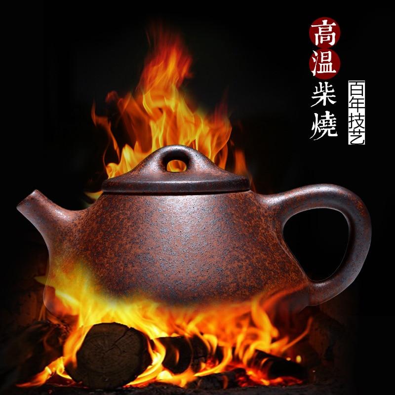Ev ve Bahçe'ten Çaydanlıklar'de Zisha yakacak odun değiştirme taş kepçe pot Yixing purply kil demlik çin kung fu çaydanlıklar'da  Grup 2