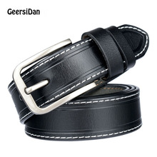 GEERSIDAN 2018 New High quanlit belt for female  Fashion Cowskin Leather Women Belt Brief Strap Designer Casual