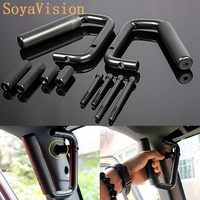 Black Grab Bar Front Rear Hard Mount Solid Steel Wild Boar Grab Handle For Jeep Wrangler