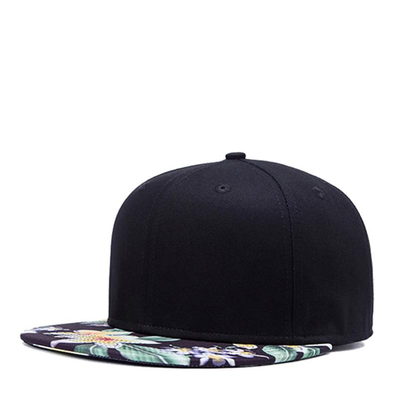 43c8800a898 SNP Hip Hop Snapback Caps Men Dad Hat Women Cap Flower Print Straight Visor  Casual Hats Bones Solid Black Baseball Fitted Cap-in Baseball Caps from  Apparel ...