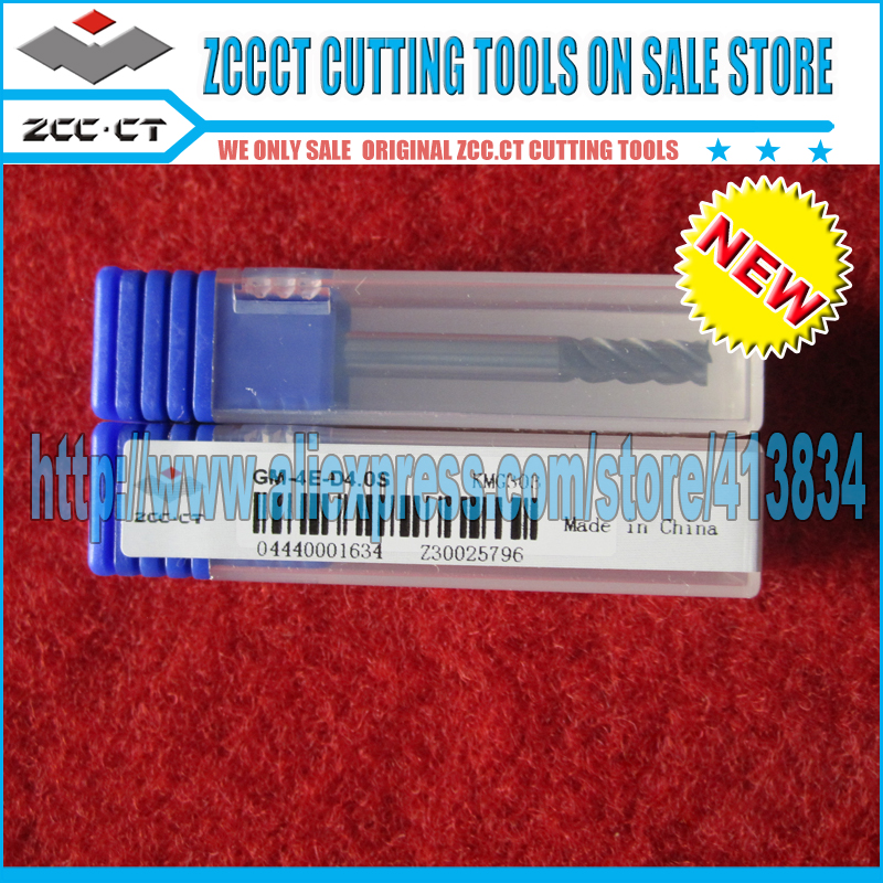 Free Shipping GM-4E-D4.0S ZCC Carbide cutting tool zccct end mill tools mills