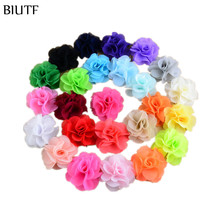 Neon Chiffon Summer Style 2.56 Inch girl hair Flowers Headband 125pcs/lot Kids Head Beauty DIY accessories MH88